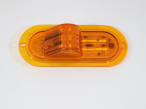 0030445 6 IN MID SHIP AMBER LED / WITH BUMP / FLAT SEAL