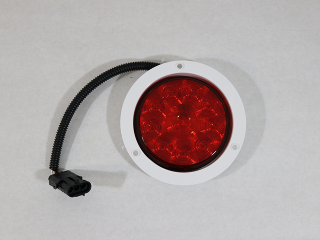 10570 LIGHT, LED STOP/TAIL RED W/WHITE FLANGE