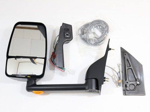 110987 Mirror kit, 2020SS, DLX LGT H/R, Black, GM, set