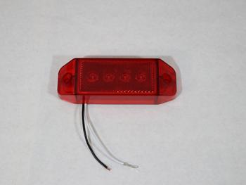 114266 LIGHT, 3RD BRAKE, 4 INCHx6 INCH, RED, W/REFLEX