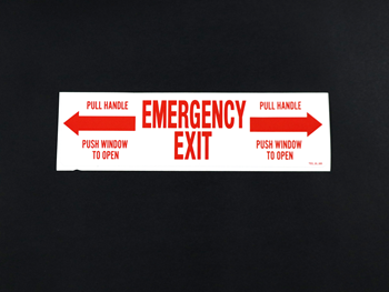 1163 Decal Emergency Exit, TES03005
