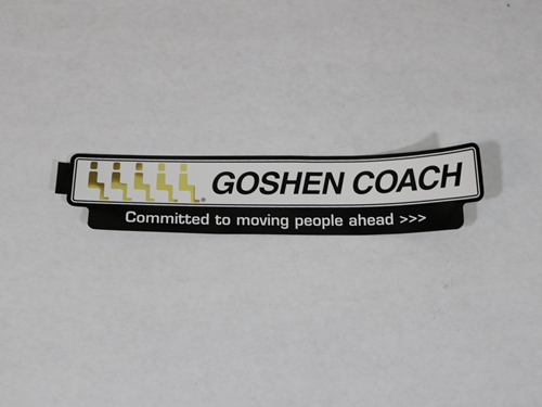 12370 DECAL, GOSHEN COACH LOGO