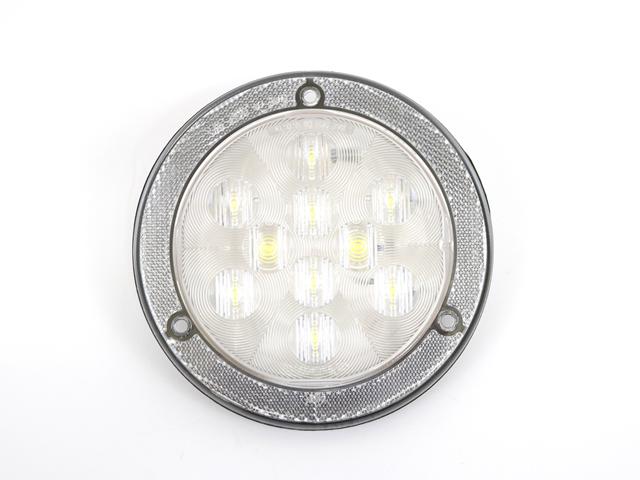 117417 LIGHT, 4 INCH LED CLEAR W/ REFLEX RING
