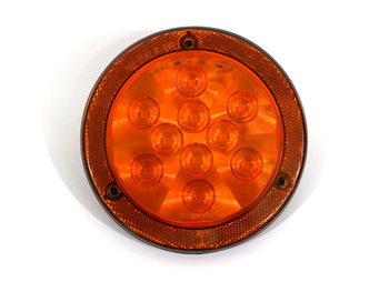 117573 LIGHT, 4 INCH LED AMBER W/ REFLEX RING