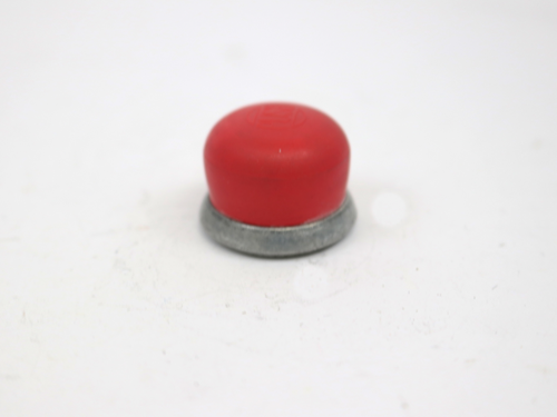 24664 CAP, RED THREADED FOR PUSH BUTTON SWITCH