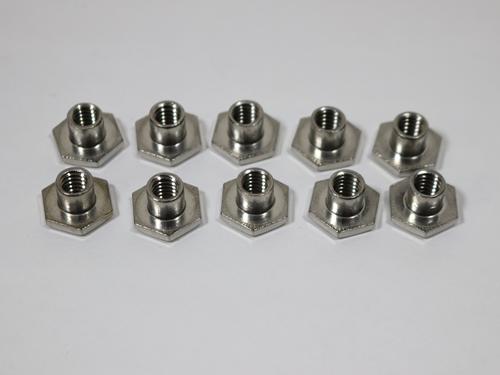 14485 TEE NUT 1/4-20 X 1/4L NECK SST  10 per bag