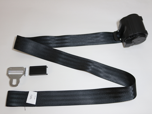 24807 SEAT BELT, 3 PT ASSY, BLACK