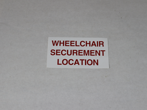 11945 DECAL, WHEELCHAIR LOCATION
