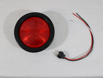 40242R LIGHT, 4 INCH RED INCANDESCENT STOP/TAIL/TURN W/GROMMET