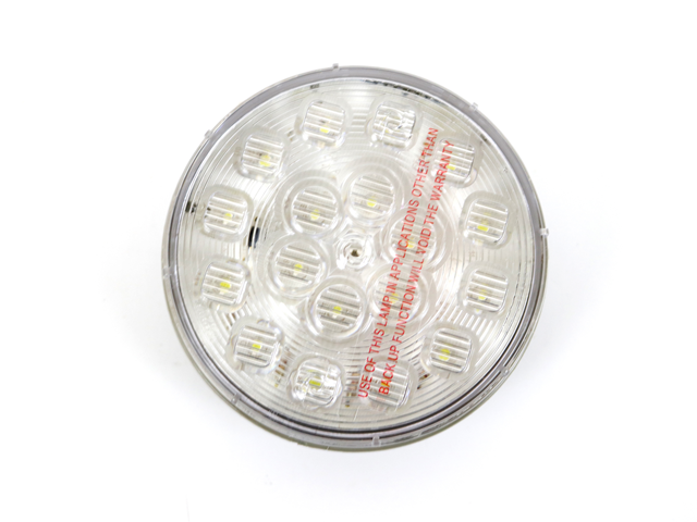 4181 CLEAR 4 INCH LED,  BACKUP/REVERSE