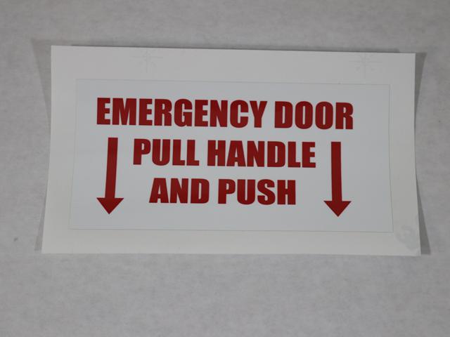 5035 EMERGENCY DOOR, PULL HANDLE & PUSH