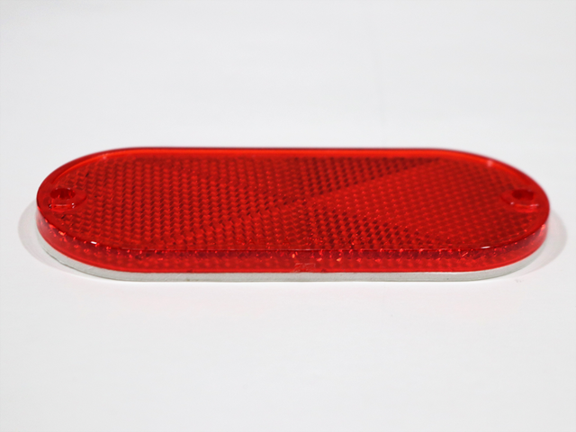 5045 REFLECTOR, RED OVAL