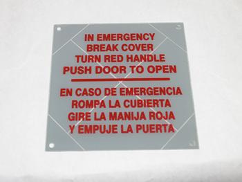 60011201 Frangible panel, Eldorado
