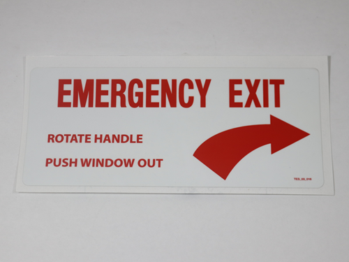 24493 EMERGENCY WINDOW DECAL