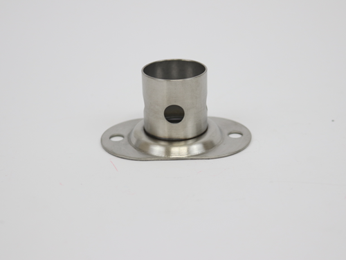 6527 STANCHION FITTING, ROUND BASE, 4-HOLE, 1.5