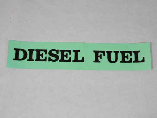 BF213 DECAL DIESEL FUEL