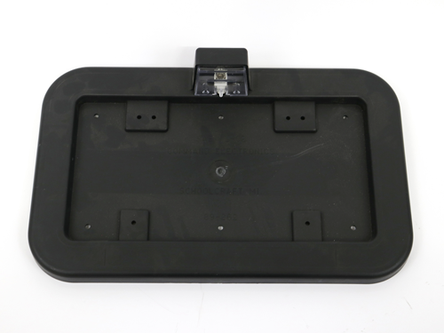 BX050580 LICENSE PLATE HOLD, PLASTIC, BLACK INC.