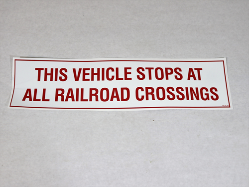 RR416 RAILROAD DECAL