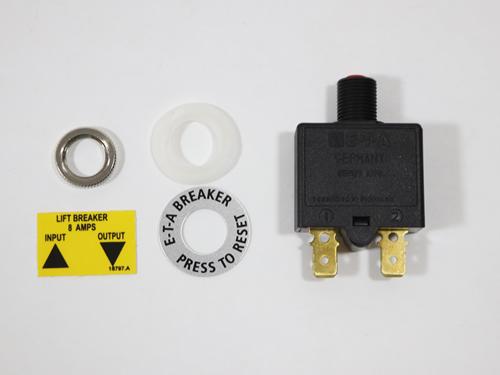 V2.SH.005 8 AMP CIRCUIT BREAKER